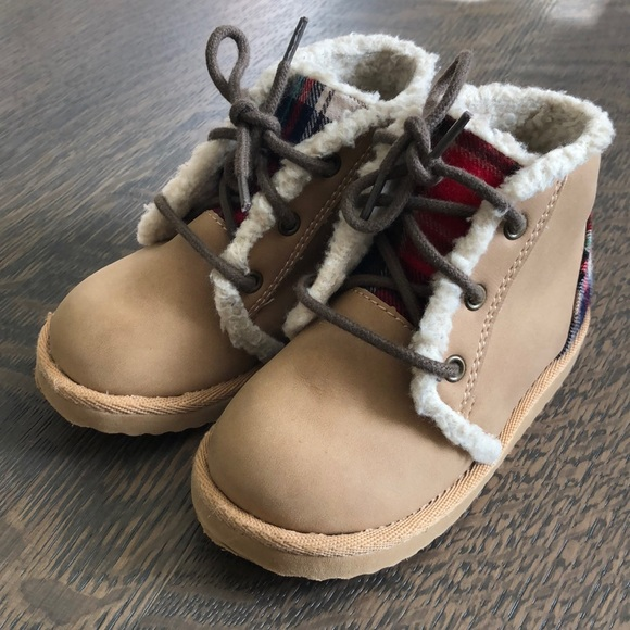GAP Other - Plaid and tan boots